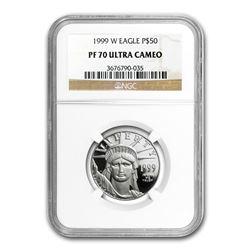 1999-W 1/2 oz Proof Platinum American Eagle PF-70 NGC