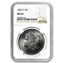 1882-O Morgan Dollar MS-64 NGC
