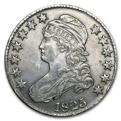 1825 Capped Bust Half Dollar Choice AU