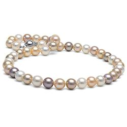 Multicolor Freshwater Pearl Necklace, 9.5-10.5mm