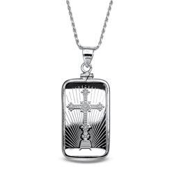 10 gram Silver - PAMP Cross Pendant (w/Chain)