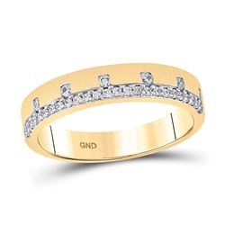 14kt Yellow Gold Womens Round Diamond Band Ring 1/4 Cttw