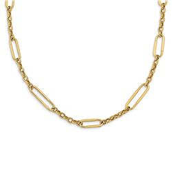 14k Yellow Gold Polished Fancy Link Necklace - 30 in.