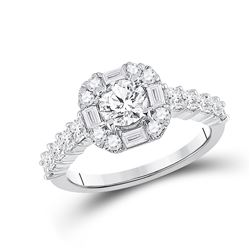 14kt White Gold Round Diamond Solitaire Bridal Wedding Engagement Ring 2 Cttw