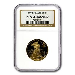 1992-P 1/2 oz Proof Gold American Eagle PF-70 NGC