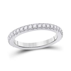 14kt White Gold Womens Round Diamond Eternity Wedding Band 3/4 Cttw