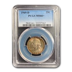1949-D Washington Quarter MS-66+ PCGS