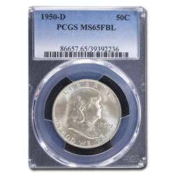 1950-D Franklin Half Dollar MS-65 PCGS (FBL)