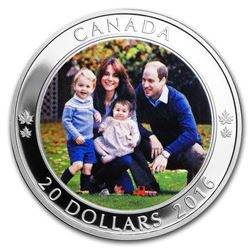 2016 Canada 1 oz Silver $20 A Royal Tour Proof