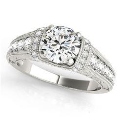 Natural 1.5 ctw Diamond Antique Ring 14k White Gold