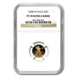 2008-W 1/10 oz Proof Gold American Eagle PF-70 NGC