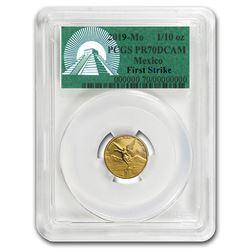 2019 Mexico 1/10 oz Gold Libertad PR-70 PCGS (FirstStrike®)
