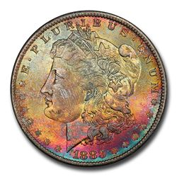 1883-O Morgan Dollar MS-65 PCGS (Beautiful Toning)