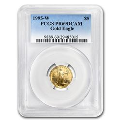 1/10 oz Proof Gold American Eagle PR-69 PCGS (Random Year)