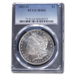 1882-O Morgan Dollar MS-64 PCGS