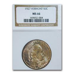 1927 Vermont Sesquicentennial Half Dollar MS-66 NGC