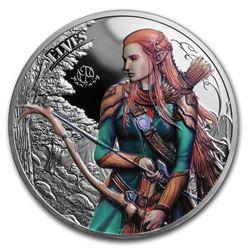 2017 Palau 1 oz Silver Fantastic Fantasy (The Elves)