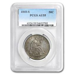 1868-S Liberty Seated Half Dollar AU-55 PCGS