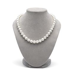 White Freshwater Pearl Necklace, 10.5-11.5mm