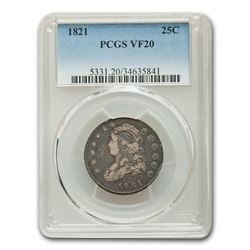 1821 Capped Bust Quarter VF-20 PCGS