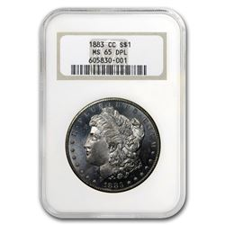 1883-CC Morgan Dollar MS-65 DPL NGC