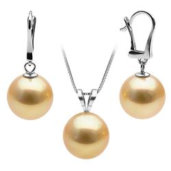 Golden South Sea Classic Pendant and Dangle Earring Set