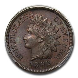 1892 Indian Head Cent MS-64 PCGS (Brown)