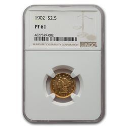 1902 $2.50 Liberty Gold Quarter Eagle PF-61 NGC