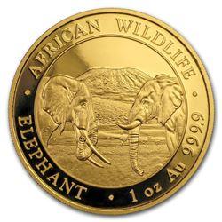 2020 Somalia 1 oz Gold Elephant Coin BU
