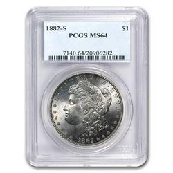 1882-S Morgan Dollar MS-64 PCGS