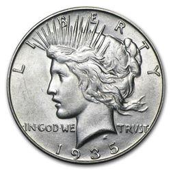 1935-S Peace Dollar AU
