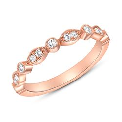 Natural 0.27 CTW Round Diamond Ring 14KT Rose Gold