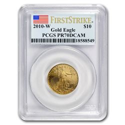2010-W 1/4 oz Proof Gold American Eagle PR-70 PCGS (FirstStrike®)