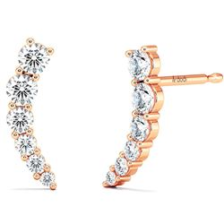 Natural 0.62 CTW Make-A-Wish Diamond Earrings 14KT Rose Gold