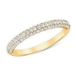 Natural 0.47 CTW Lucky Diamond Ring 14KT Yellow Gold