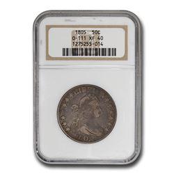 1805 Draped Bust Half Dollar XF-40 NGC (O-111)