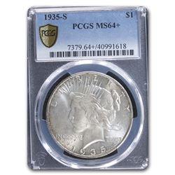 1935-S Peace Dollar MS-64+ Plus PCGS