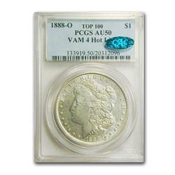 1888-O Morgan Dollar AU-50 PCGS CAC (VAM 4 Hot Lips Top 100)