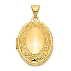 14k Yellow Gold Oval Locket - 30 mm