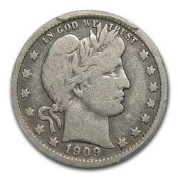 1909-O Barber Quarter Fine-12 PCGS