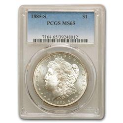 1885-S Morgan Dollar MS-65 PCGS