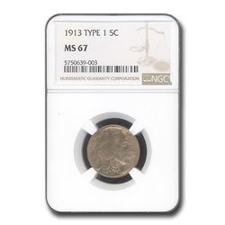 1913 Buffalo Nickel Type-I MS-67 NGC