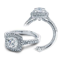 Natural 2.02 CTW Diamond Engagement Halo Ring 18KT White Gold