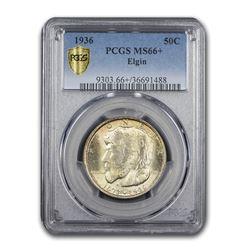 1936 Elgin, Illinois Centennial Half Dollar Commem MS-66+ PCGS