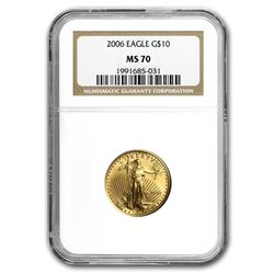 2006 1/4 oz Gold American Eagle MS-70 NGC