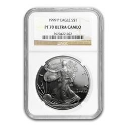 1999-P Proof Silver American Eagle PF-70 NGC
