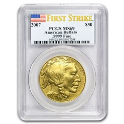 2007 1 oz Gold Buffalo MS-69 PCGS (FirstStrike®)