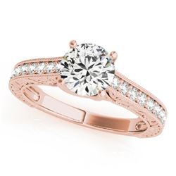 Natural 1.32 ctw Diamond Solitaire Ring 14k Rose Gold