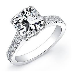 Natural 3.92 CTW Radiant Cut Diamond Engagement Ring 14KT White Gold