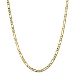 10k Yellow Gold 5.75 mm Semi-Solid Figaro Chain - 26 in.